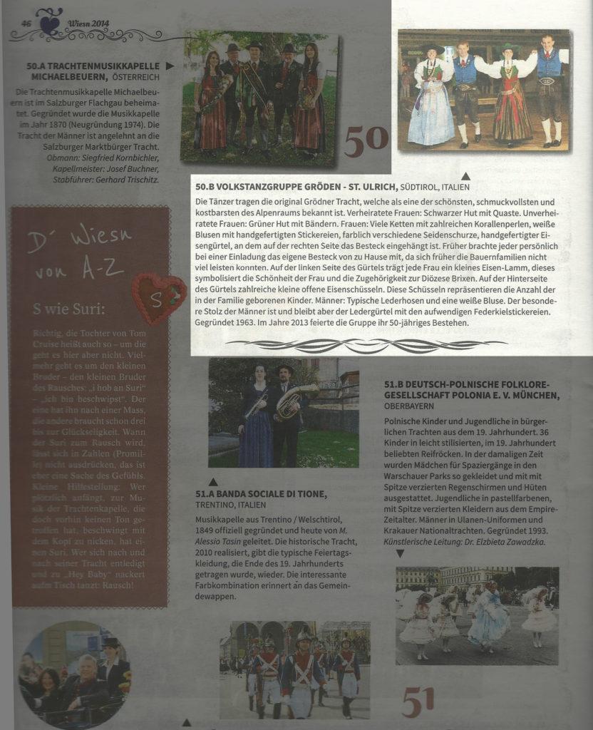 Infozeitschrift Wiesn 2014